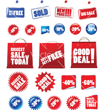 Free shopping signs vector - vector #248381 gratis