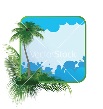 Free summer frame with palm tree vector - Free vector #248441
