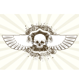 Free tshirt design with skull vector - бесплатный vector #248741
