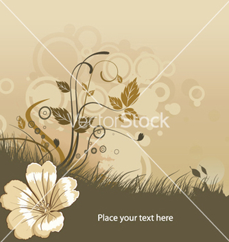 Free abstract flower with circles vector - vector #248751 gratis