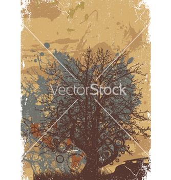 Free vintage background with tree vector - бесплатный vector #248821