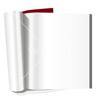 Free book with blank page vector - Kostenloses vector #248931
