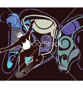 Free liquid background with skater vector - vector gratuit #248951