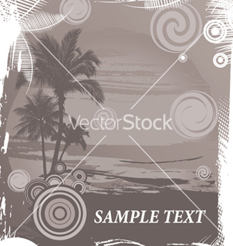 Free vintage summer background with palm trees vector - бесплатный vector #249101