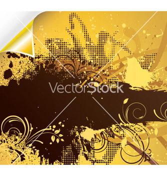 Free grunge floral background with corner vector - vector gratuit #249131