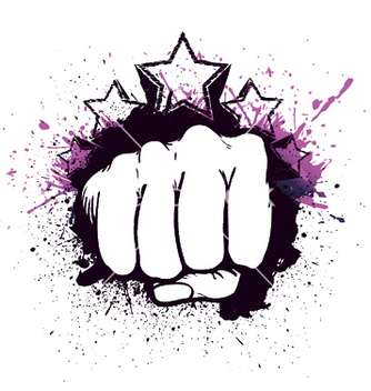 Free fist with stars vector - Free vector #249161