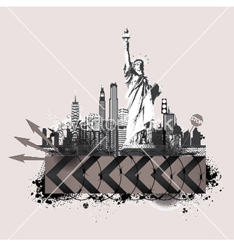 Free vintage city background vector - Kostenloses vector #249171