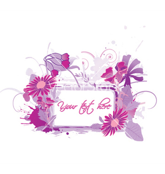Free floral frame with splash vector - vector #249371 gratis