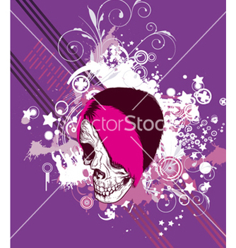 Free skull with floral vector - бесплатный vector #249411