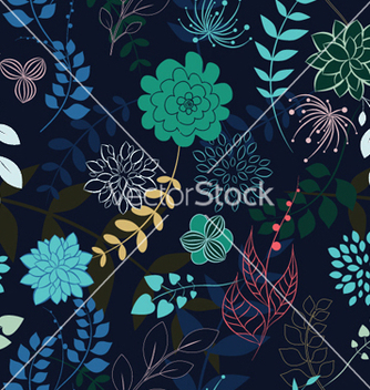 Free abstract seamless floral background vector - Kostenloses vector #249421