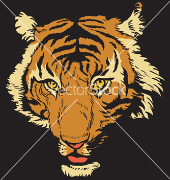 Free tshirt design with raging tiger vector - Free vector #249461