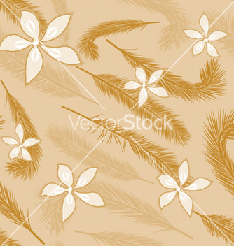 Free seamless floral pattern vector - Free vector #249471