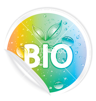 Free bio sticker vector - бесплатный vector #249581