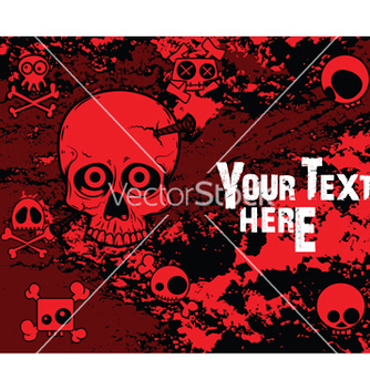 Free emo background with skulls vector - vector #249621 gratis