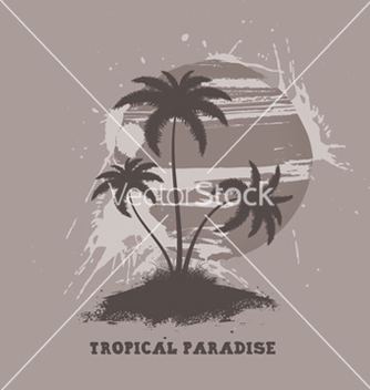 Free vintage summer background with palm trees vector - Free vector #249661