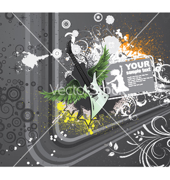 Free music background with guitar vector - Free vector #249941