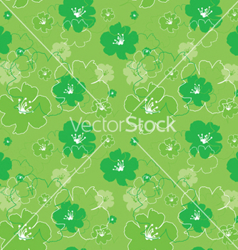 Free abstract seamless floral background vector - Kostenloses vector #250181