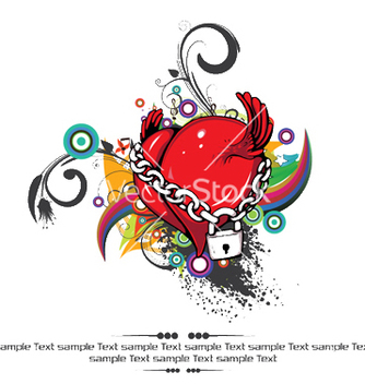 Free heart with floral vector - vector #250201 gratis