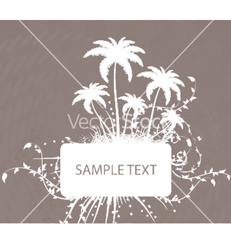 Free vintage summer background with palm trees vector - бесплатный vector #250311