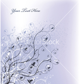 Free grunge background with floral vector - vector gratuit #250361