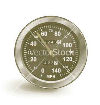 Free old rusty speedo meter vector - Free vector #250371