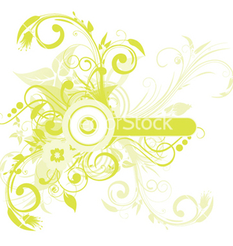Free floral frame with space for text vector - Kostenloses vector #250391