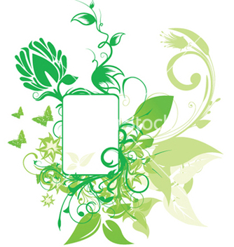 Free abstract floral frame vector - Free vector #250421