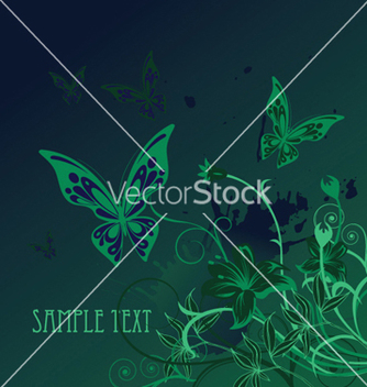 Free floral with splash vector - vector gratuit #250681