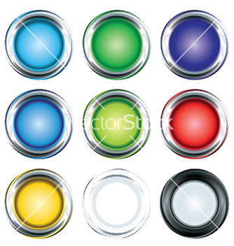 Free glossy buttons set vector - Free vector #250761