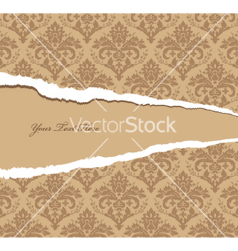 Free torn damask wallpaper vector - Free vector #250781