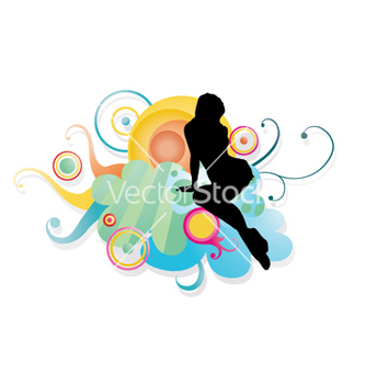 Free girl with floral vector - Free vector #250841