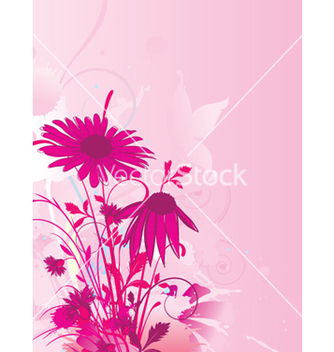 Free grunge background with floral vector - Kostenloses vector #250941