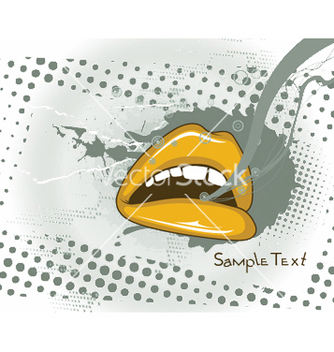 Free mouth with grunge vector - Kostenloses vector #250951