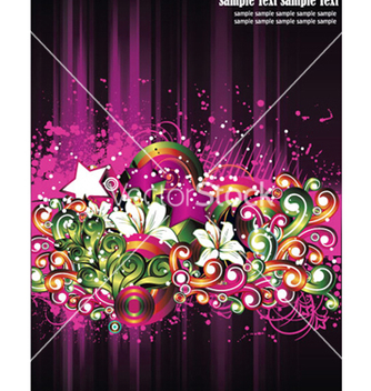 Free abstract floral vector - Free vector #251551