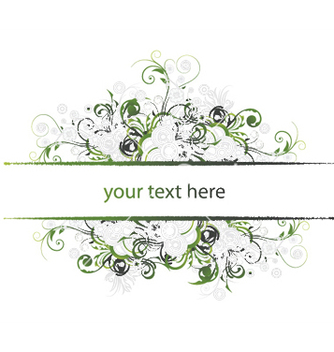 Free abstract floral frame vector - Free vector #251611