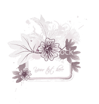 Free floral frame with splash vector - vector gratuit #251671