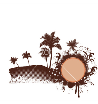 Free summer with palm trees vector - Free vector #251821