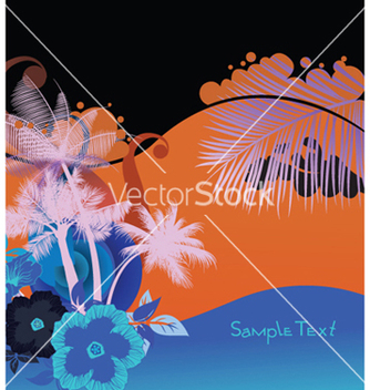 Free summer background with palm trees vector - бесплатный vector #252021