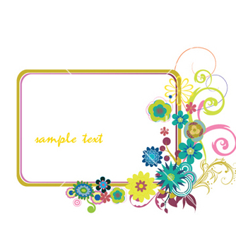 Free floral frame vector - Kostenloses vector #252041