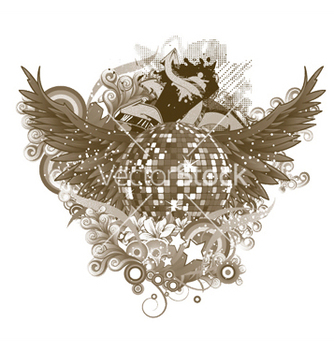 Free discoball with wings vector - Kostenloses vector #252361