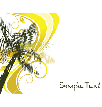 Free summer background with palm trees vector - бесплатный vector #252371