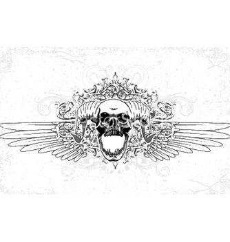 Free skull with wings vector - Free vector #252401
