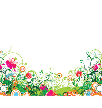 Free popart floral background with circles vector - Kostenloses vector #252441