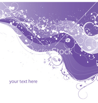 Free wave with floral vector - Free vector #252521