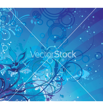 Free fantasy floral background vector - Free vector #252531