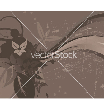 Free grunge wallpaper with floral vector - Free vector #252551