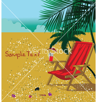 Free summer background with long chair vector - Free vector #252561