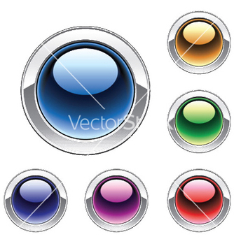 Free glossy buttons set vector - Free vector #252671
