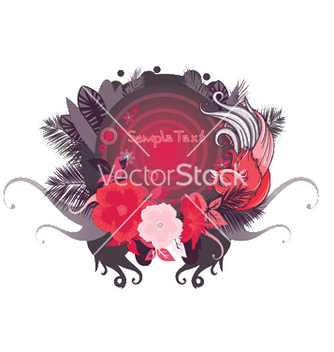 Free abstract floral frame vector - Free vector #252761