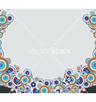 Free abstract background with circles vector - vector #252791 gratis